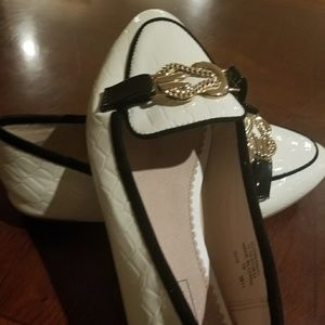Topshop white loafers